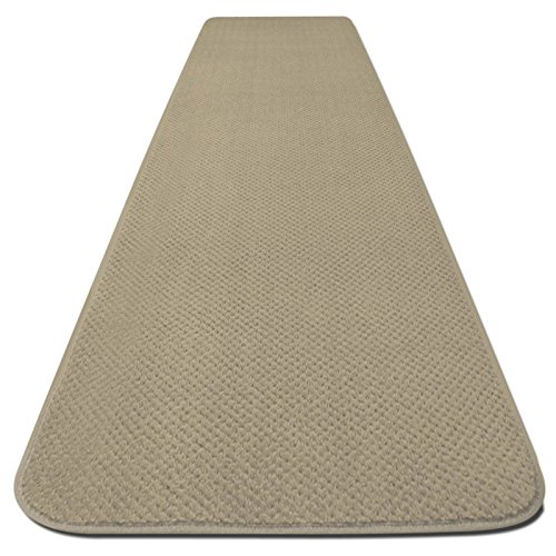 (House, Home and More Skid-Resistant Carpet Runner - Ivory Cream - 6 Feet X 27 Inches)