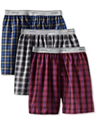 Fruit of the Loom Men'sExposed Waistband Woven Boxer(Pack of 3)