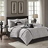 Madison Park Connell 7 Piece Comforter Set Size: California King, Color: Grey,