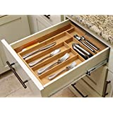 Oliva Italiana Expandable Utility Drawer Organizer Eco-Friendly, 100% Organic bamboo, Professional-Grade, with expandable drawers. Please that gourmet in your life with the best drawer organizer.