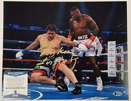 (Autographed Luis Ortiz Photograph - King Kong 11x14 Boxing E ~ Beckett BAS COA - Beckett Authentication)