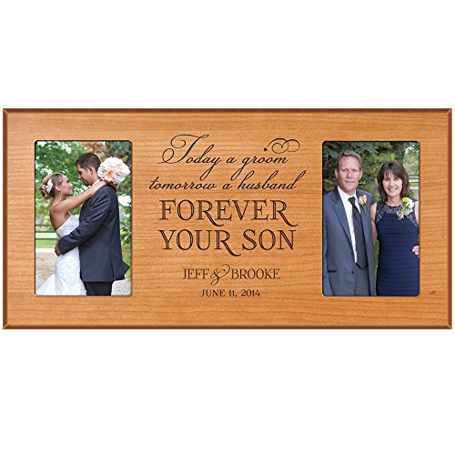 Personalized wedding gift picture frame for Bride and Groom, for parents, Mom and Dad thank-you