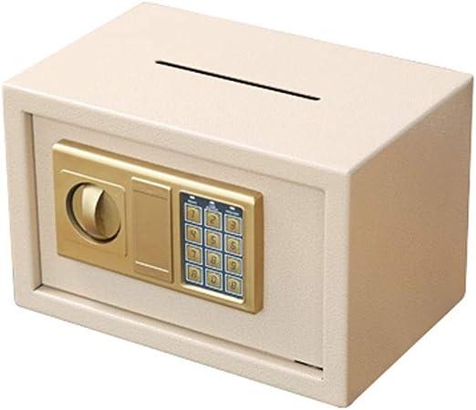 Banco de Dinero Contraseña de la carpeta hucha, Caja de seguridad for adultos Alcancía, regalo Cash Box caja de almacenamiento, Llave de almacenamiento de Caja hecha de acero inoxidable Niño Niña: Amazon.es: