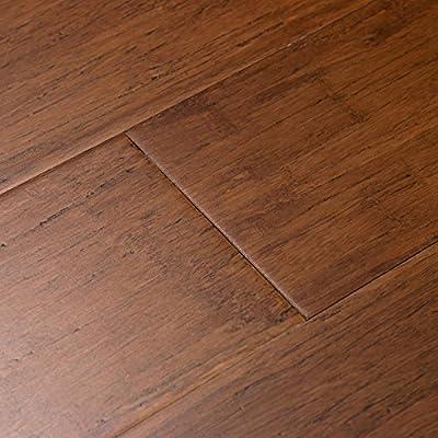 Cali Bamboo - Solid Bamboo Flooring, Distressed Java Brown, Wide Click Lock - Sample