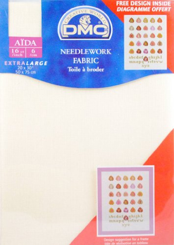 16 Count Aida Fabric 20x30 Inches  - Ecru - DC88/10