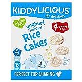 Kiddylicious Yoghurt Splashed Rice Cakes 4 x 12g (Pack of 4)