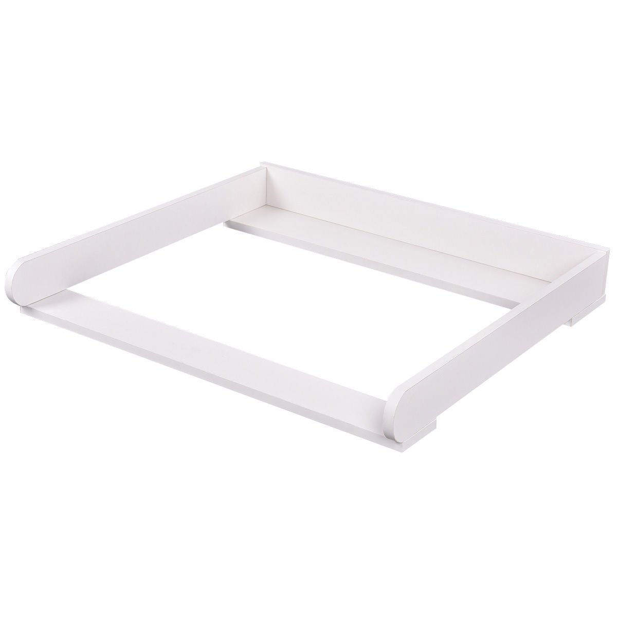 Costzon 31'' Changing Table Top Dresser Infant Baby Nursery Diaper Station Kit (white)