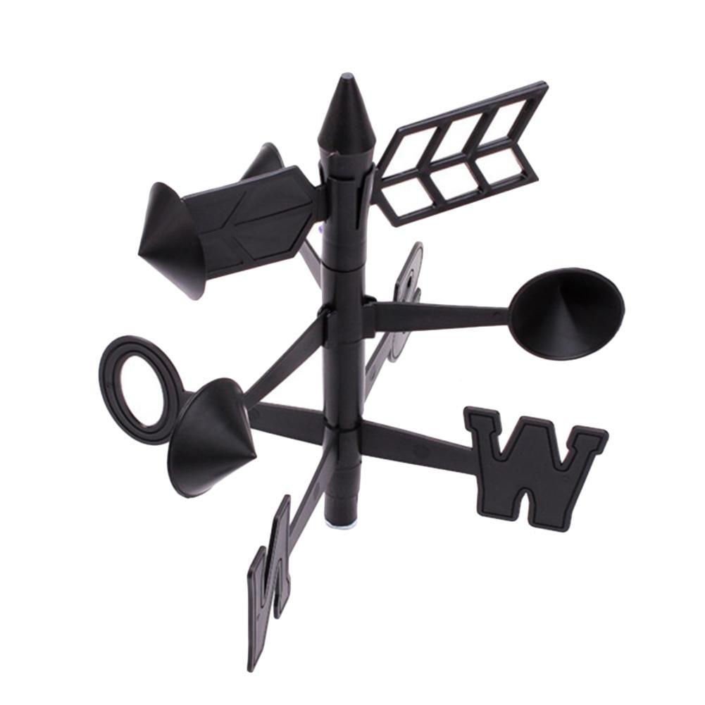 Sommers Laden Regenmesser Windanzeiger Gartenau/ßenwetterstation Wettermessger/ät Fl/ügelrad-Werkzeug Thermometer