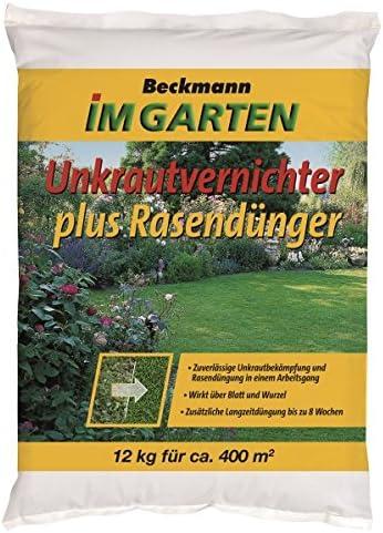 Abono para césped con 15 kg herbicida para aprox. 500 M²: Amazon.es: Jardín