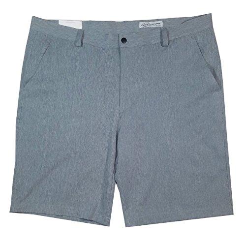 Greg Norman ML75 Luxury Microfiber Travel Golf Shorts (Steel Heather, ()