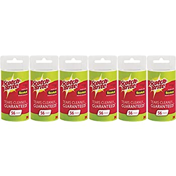 Scotch Brite Lint Roller Refill, 56 Sheets (Pack of 6)