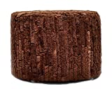 Cowhide Pouf, Brown