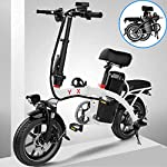 JXH Folding Mountain Bike per Freni a Disco Doppio per Adulti 48V 8AH Montagna Bicicletta elettrica e, con Display LED…