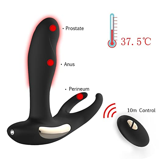 Picture of a vibrating prostate massager with remote controller