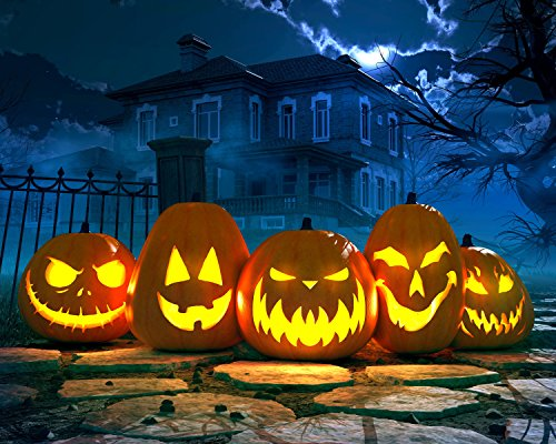 (Spooky Halloween Pumpkins and Haunted Mansion 504 Piece Jigsaw Puzzle 16