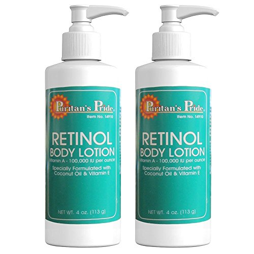 (Puritan's Pride 2 Pack of Retinol Body Lotion (Vitamin A 100,000 IU Per Ounce) Puritan's Pride Retinol Body Lotion (Vitamin A 100,000 IU Per Ounce)-4 Lotion )