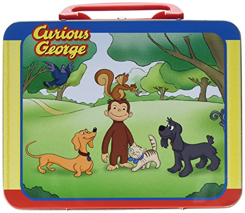 Pressman Toys Curious George Puzzle in Lunchbox Tin (24 - Curious Box George Lunch