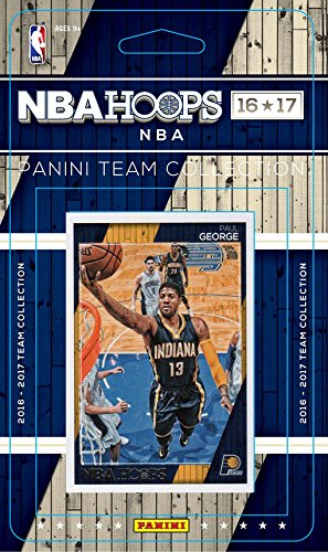 Indiana Pacers 2016 2017 Hoops Basketball Factory Sealed 8 Card NBA Licensed Team Set with Paul George Plus