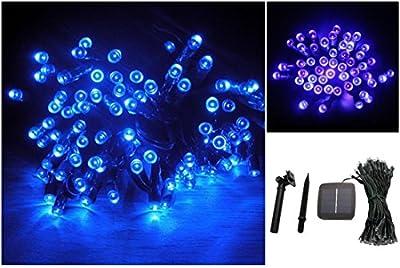 1Pc Crucial Popular 200x LED Solar Power Nightlight Home Decor Garden Lawn Waterproof Gift Colors Blue