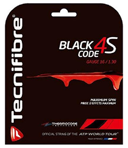 Tecnifibre Black Code 4S Tennis String (16G) (Code 16 String)