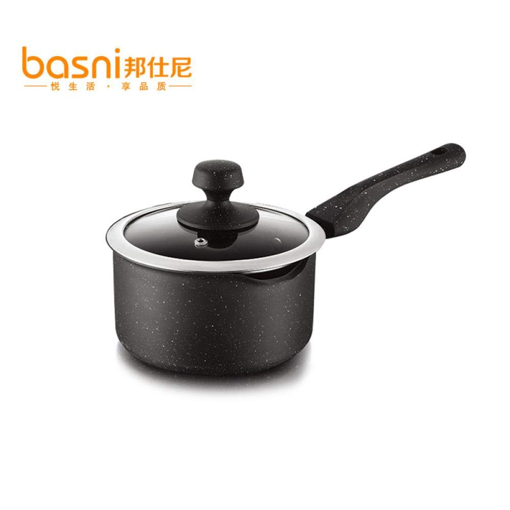 Small Dairy Pot Baby's Supplementary Food Small Dairy Pot 16 cm Baby's Hot Milk Cooking Noodle Non-stick Pot, Maifanshi, 16cm by VWEGRGFEW