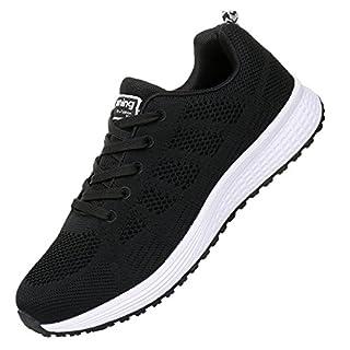 JARLIF Men's Breathable Fashion Walking Sneakers Lightweight Athletic Tennis Running Shoes (11.5 D(M) US, Black)