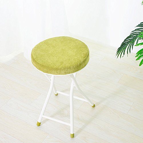 ALUS- Folding Stool/Folding Stool/Residential Fabric Soft-Faced Casual Stool/Folding Chair/Can not be Disassembled Folding Stool/Dressing Table Stool/Household Bench/Folding Stool by CXM-Chair / Stool
