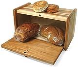 J.K. Adams 15-1/4-Inch-by-9-1/2-Inch Hickory Wood Bread Box
