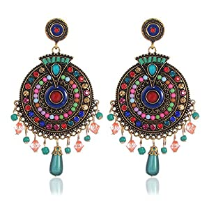 Shining Diva Fashion Jewellery Fancy Party Wear Earrings (Multicolor), multi-colour (8732er)