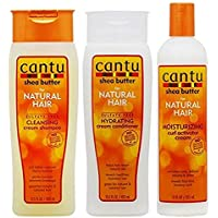 Cantu Shea Butter Shampoo plus Hydrating Conditioner plus Curl Activator Cream