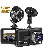 Dash Cam Full HD 1080P Car Blackbox Car Dash Cams DVR Dashboard Camera Built In G-Sensor Loop Recorder Night Vision, SD Card is NOT Included