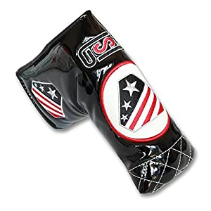 Craftsman Golf USA America Flag Black Magnetic Blade Putter Head Cover Headcover For Odyssey Scotty Cameron