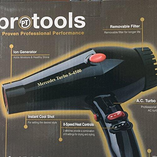 Price comparison product image Pebco Protools Mercedes Turbo S-4500 Ionic Hair Dryer