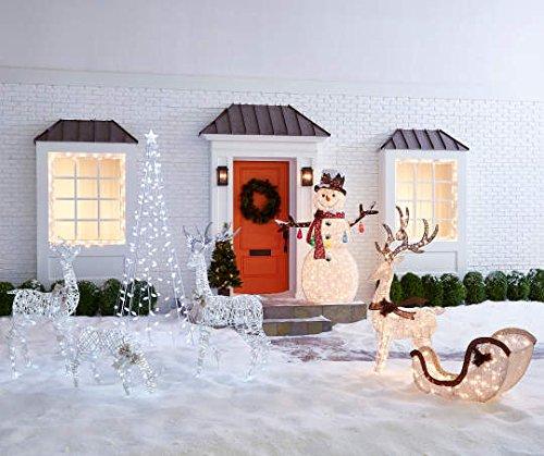 Light-Up Buck Deer & Sleigh, 2-Piece Set Christmas Yard Decoration by Winter Wonder Lane (Image #2)