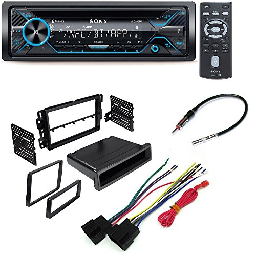 Sony 220W Amp Car Stereo CD MP3 iPod USB iPhone AUX EQ Bluetooth CAR STEREO DASH INSTALL MOUNTING KIT WIRE HARNESS RADIO ANTENNA GMC CHEVROLET SATURN HUMMER (Sony Ipod Stereo)
