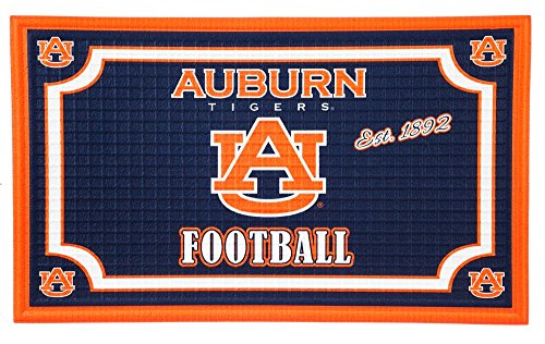 Team Sports America 41EM928 Auburn Embossed Door Mat, Multicolor (Auburn Tigers Door Mat)