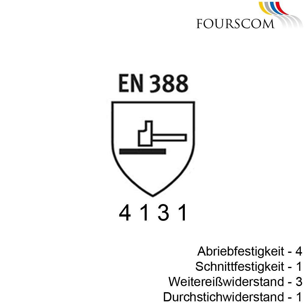 6 Paar FOURSCOM Arbeitshandschuhe Montagehandschuhe Gr.7-12 EN388//4131 Gr/ö/ße 11