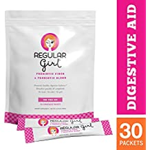 Regular Girl - On-the-Go, Low FODMAP Prebiotic Fiber and Probiotic Support for Comfortable Digestion and Immunity, 30 Packets