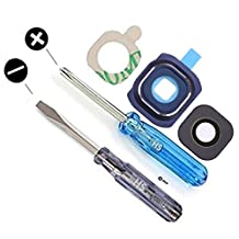 Camera Glass Lens Cover for Samsung Galaxy S6 G920 Series Blue Full Set incl. Gasket and adhesive Pad with 2 x Screwdriver for easy installation MMOBIEL