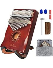 $21 » Kalimba Thumb Piano 17 Key with Stand, Finger Piano Include Tuning Hammer, Soft Imitation Wool Bag and Song Book, Hand Piano Music Instruments Gift For Adults, Kids, Beginner, Professional, Musician