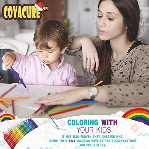 Colored Pencils Set for Adult and Kids - COVACURE Premier Color Pencil Set With 36 Colouring Pencils Sharpener and Canvas Pencil Bag for Kids and Adult Coloring Book. Ideal for Christmas Gifts by Covacure (Image #2)