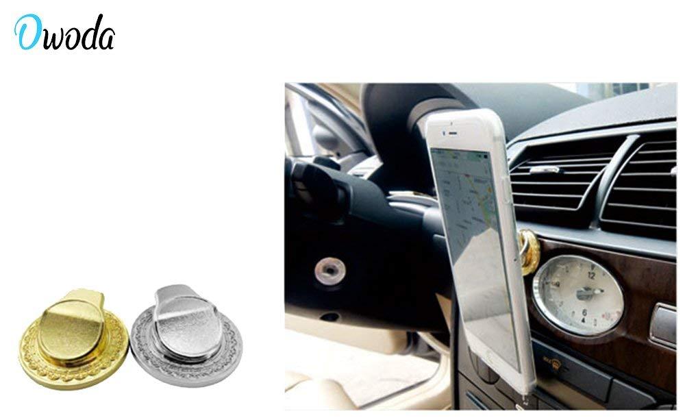 Amazon.com: owoda metal dedo anillo soporte anti gota Hand ...