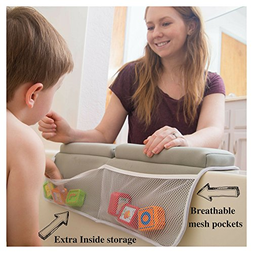 Bath Kneeler with Elbow pad Rest Set- Padded Knee mat for tub Bathing and Bathroom time. Bathtub Kneeling Waterproof Cushion mats for Infant or Baby Toy Accessories. Bathtime Knee Saver. Shower Gift. by BABY LOVABLES (Image #2)