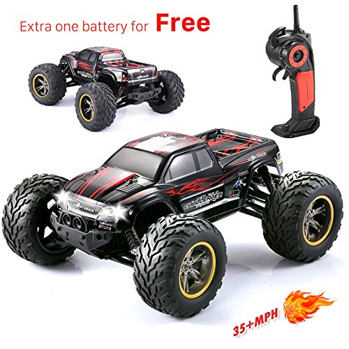 GP - NextX S911 1/12 2WD 35+MPH  High Speed Remote Control Off Road Monster Truck, Red
