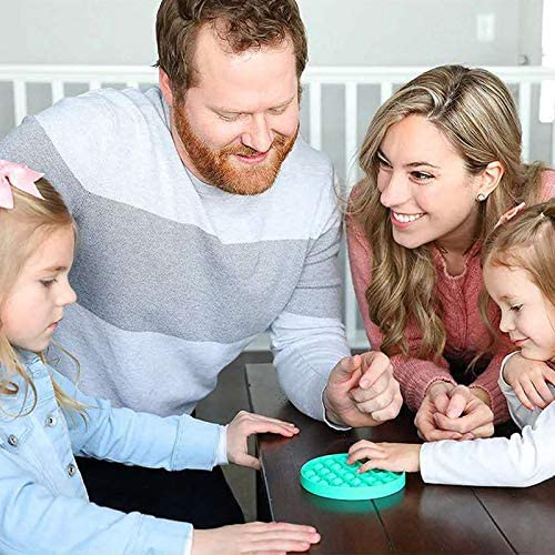 Push pop Bubble Fidget Toy, Stress Relief and Anti-Anxiety Tools for Kids and Adults, Sensory Irritability Toy for Autism with Special Needs to Relieve Stress (Round Green)