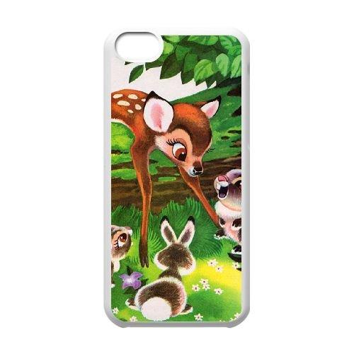 Bambi coque iPhone 5C Housse Blanc téléphone portable couverture de cas coque EBDOBCKCO10412
