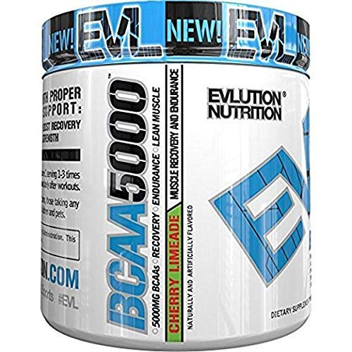 Evlution Nutrition BCAA5000 Powder (30 Servings, Cherry Limeade) 5 Grams of...