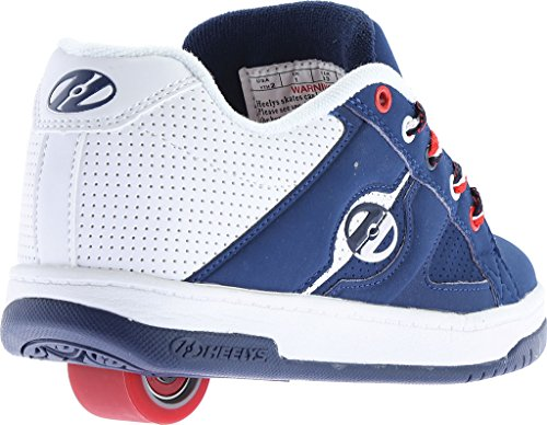 White Big Red Shoe Navy Split Kid Skate Kid Little Heelys qwZPx48aW