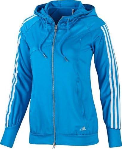 Adidas ClimaLite Q1 Hooded Track Top Damen Jacken Sportjacken Hoodies  Reissverschlussjacken Trainingsjacken Freizeitjacken Sweatjacken Pulli  Pullover ...