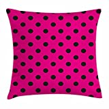 Best Seat Cushion With Pink Polkas - Hot Pink Throw Pillow Cushion Cover by Ambesonne Review